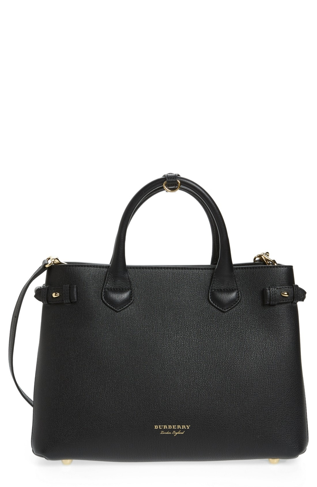 Burberry Medium Banner House Check Leather Tote