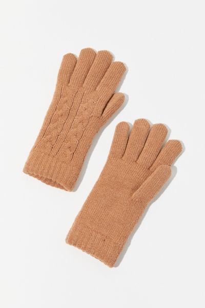 Cable Knit Chenille-Lined Glove