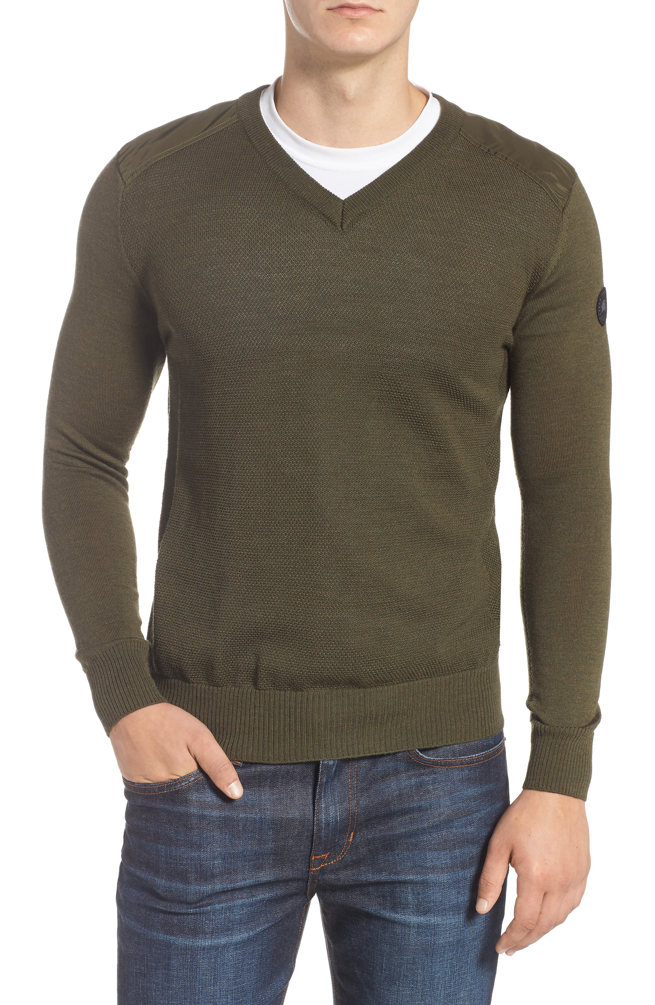 Canada Goose McLeod V-Neck Regular Fit Merino Wool Sweater