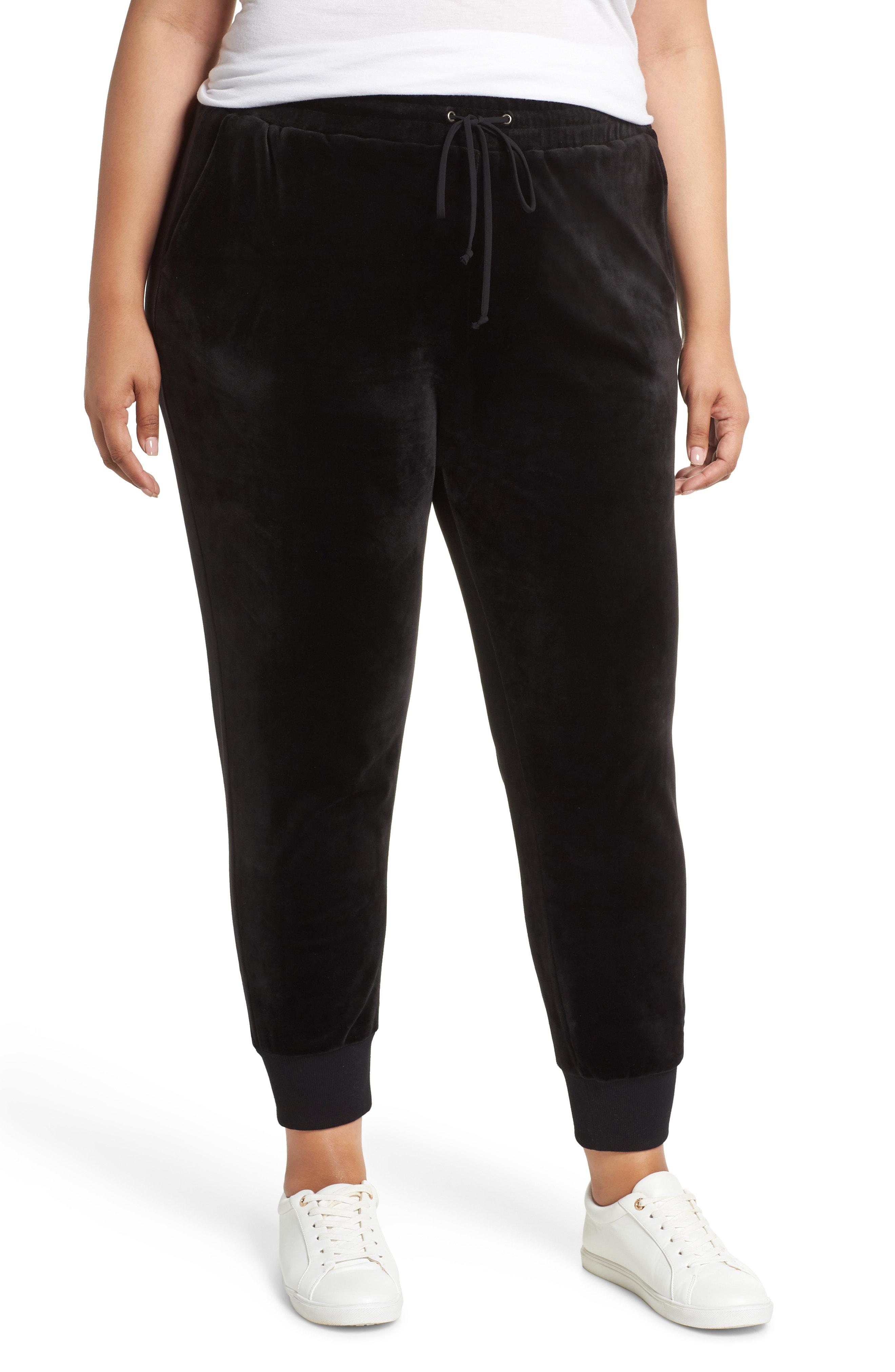 Caslon Off Duty Velour Jogger Pants (Plus Size)