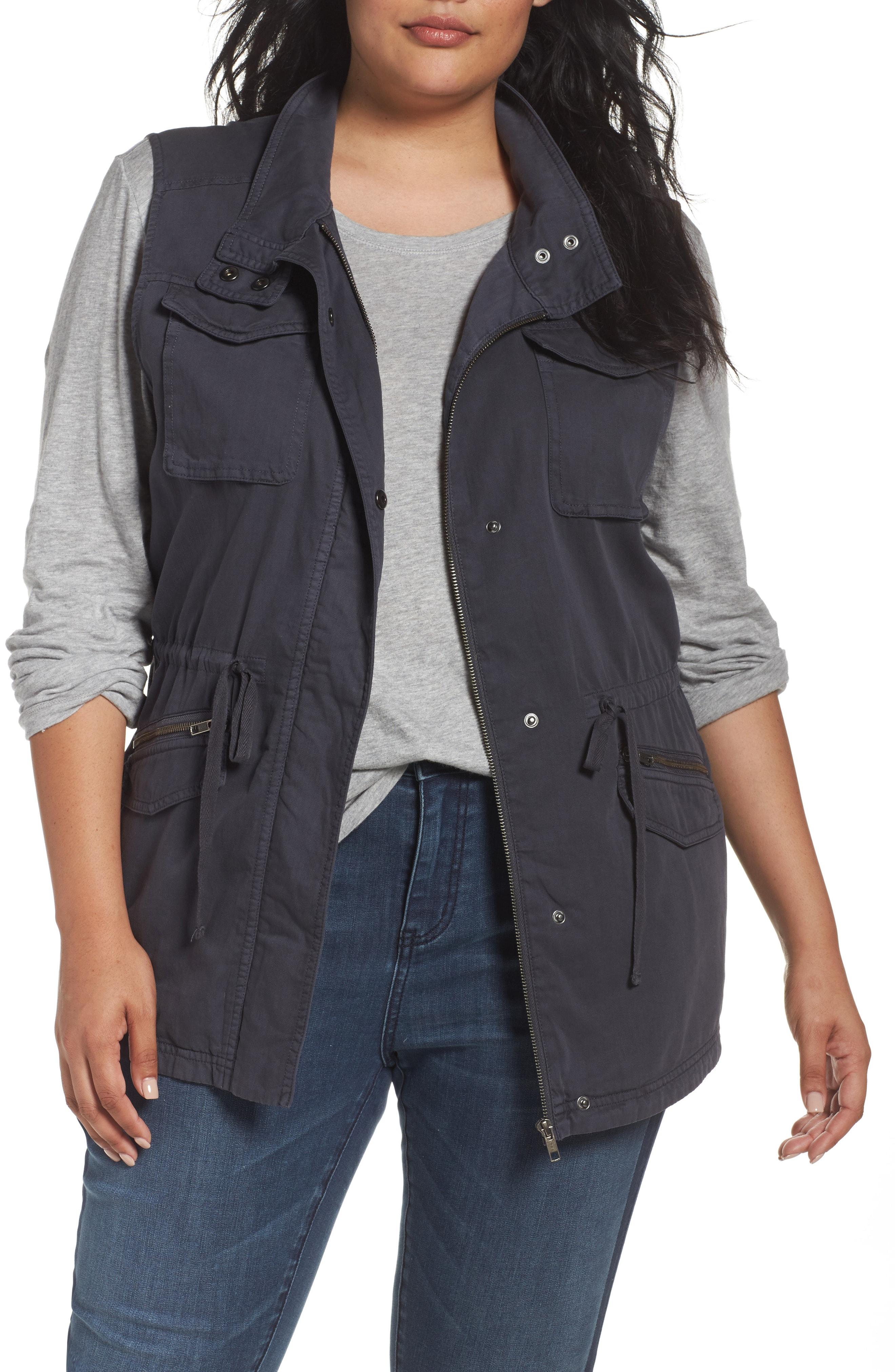 Caslon Utility Vest (Plus Size)