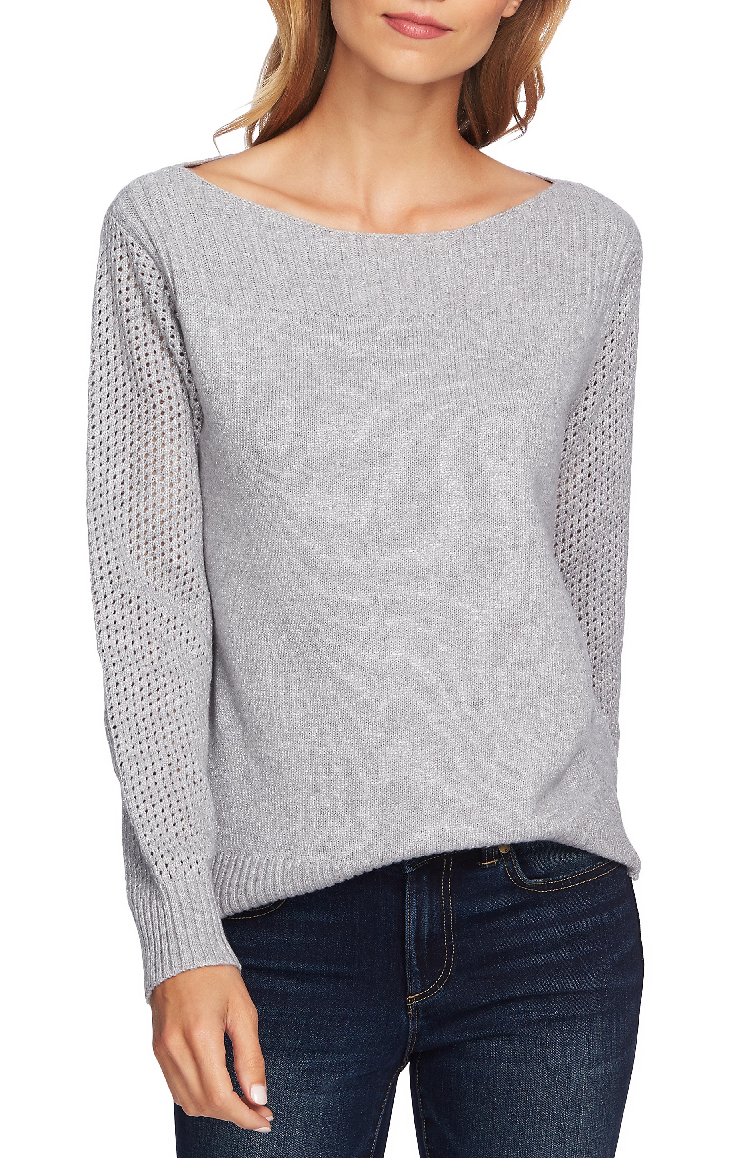 CeCe Metallic Knit Sweater
