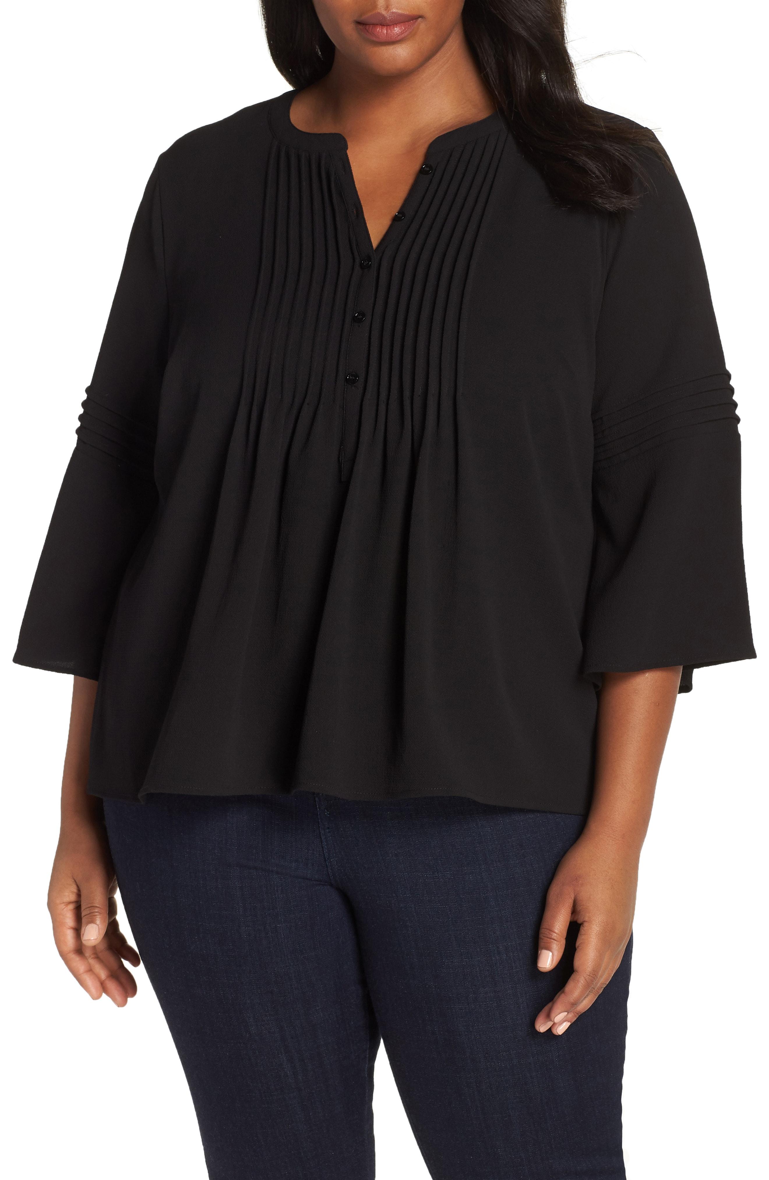 CeCe Pintuck Blouse (Plus Size)