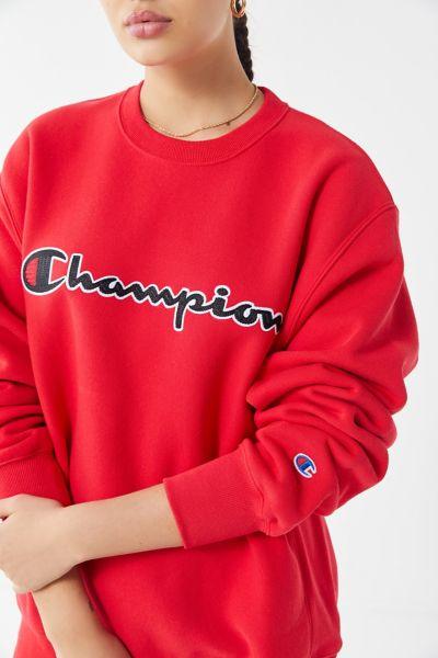 Champion Chain Stitch Script Crew-Neck Sweatshirt