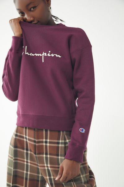 Champion Satin Stitch Crew-Neck Sweatshirt