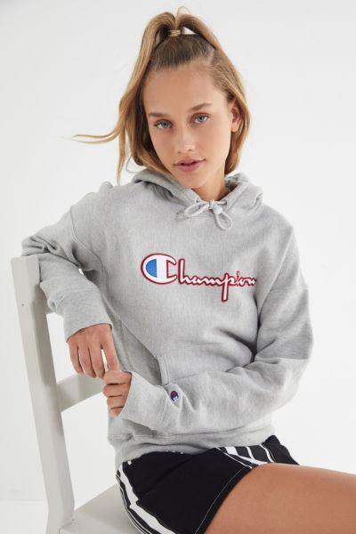 Champion Satin Stitch Hoodie Sweatshirt
