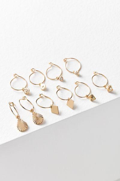 Charmed Hoop Earring Set