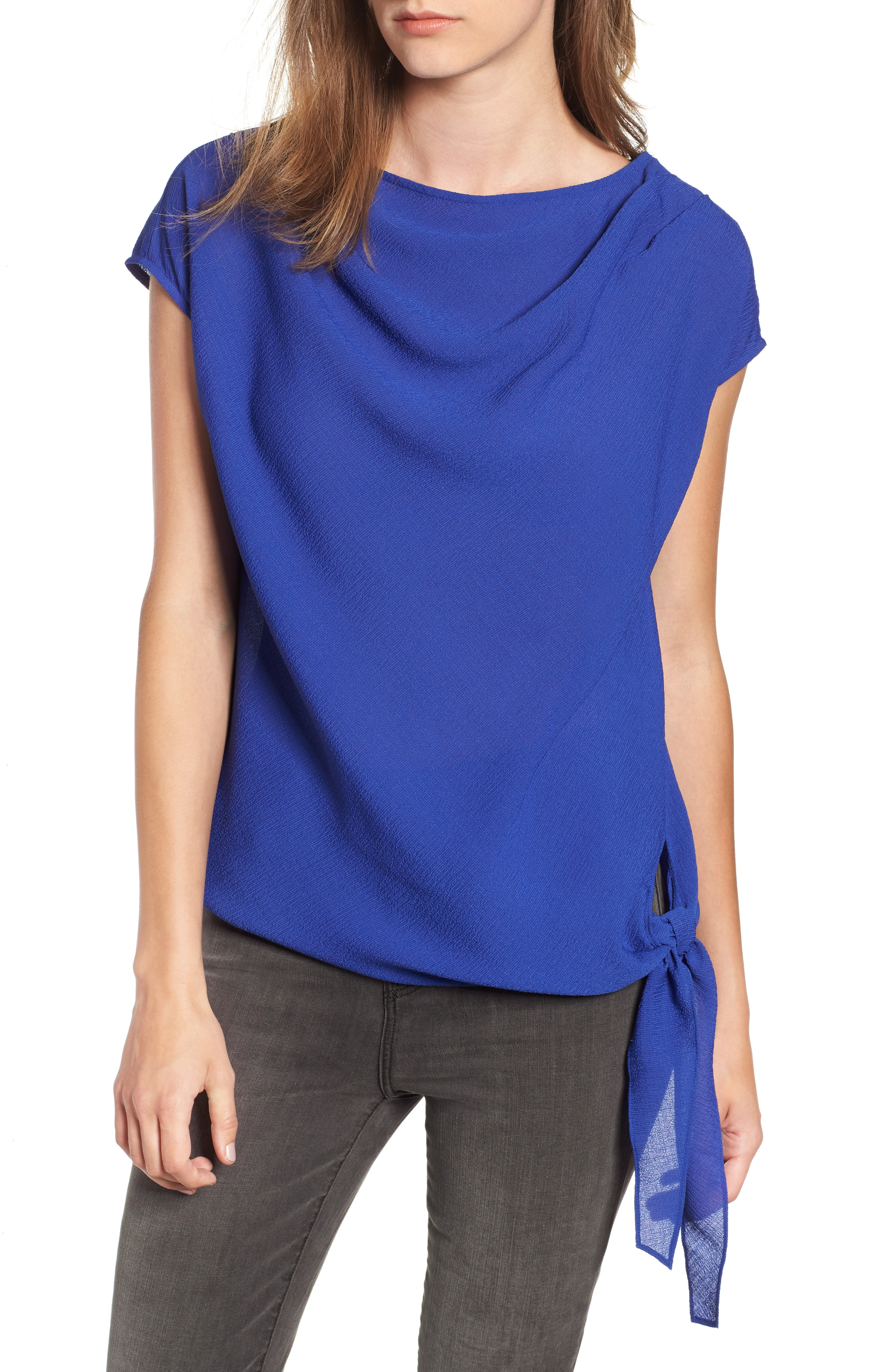 Chelsea28 Asymmetrical Knot Front Top