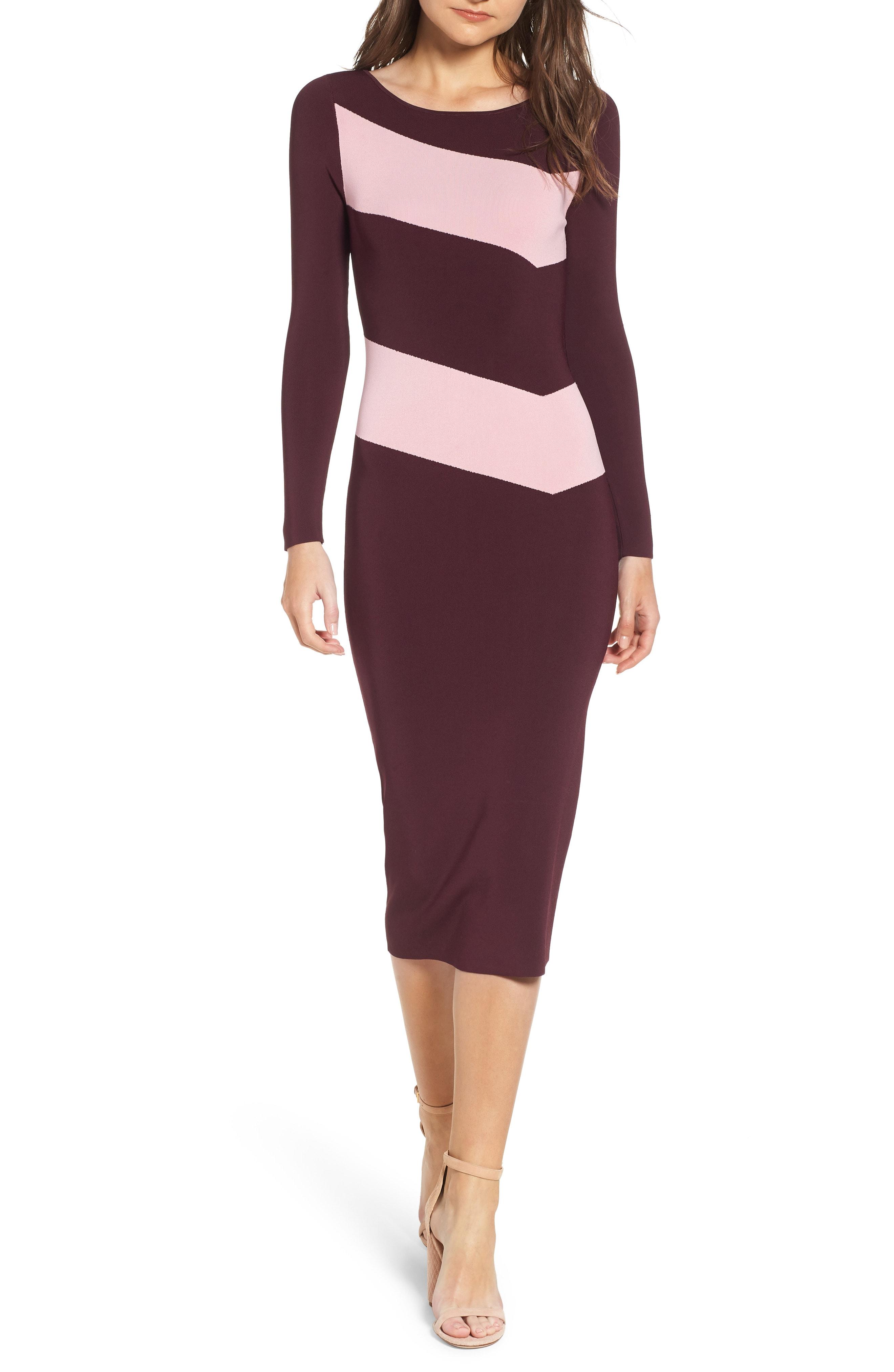Chelsea28 Bold Stripe Body-Con Dress