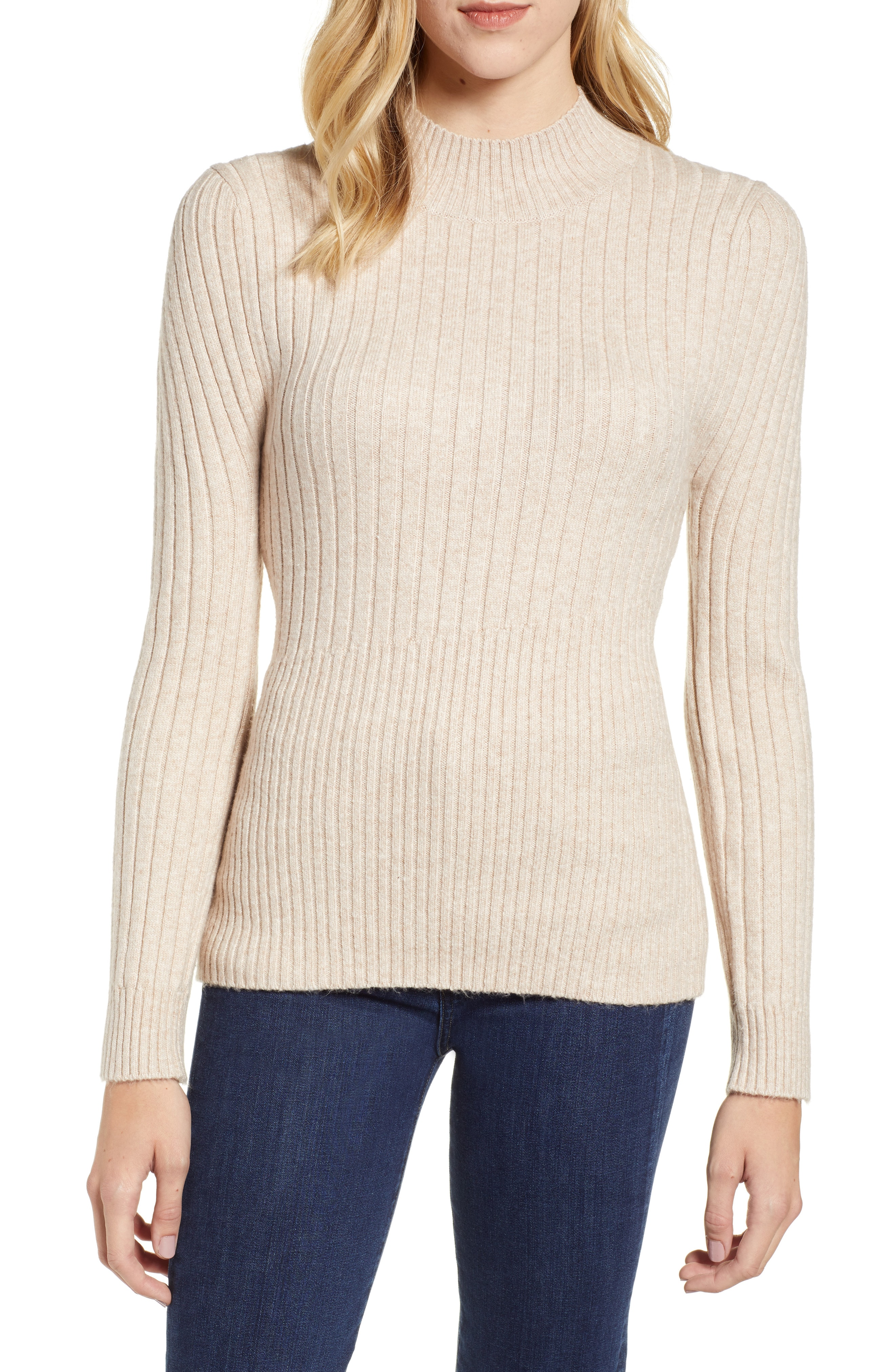 Chelsea28 Mixed Rib Sweater