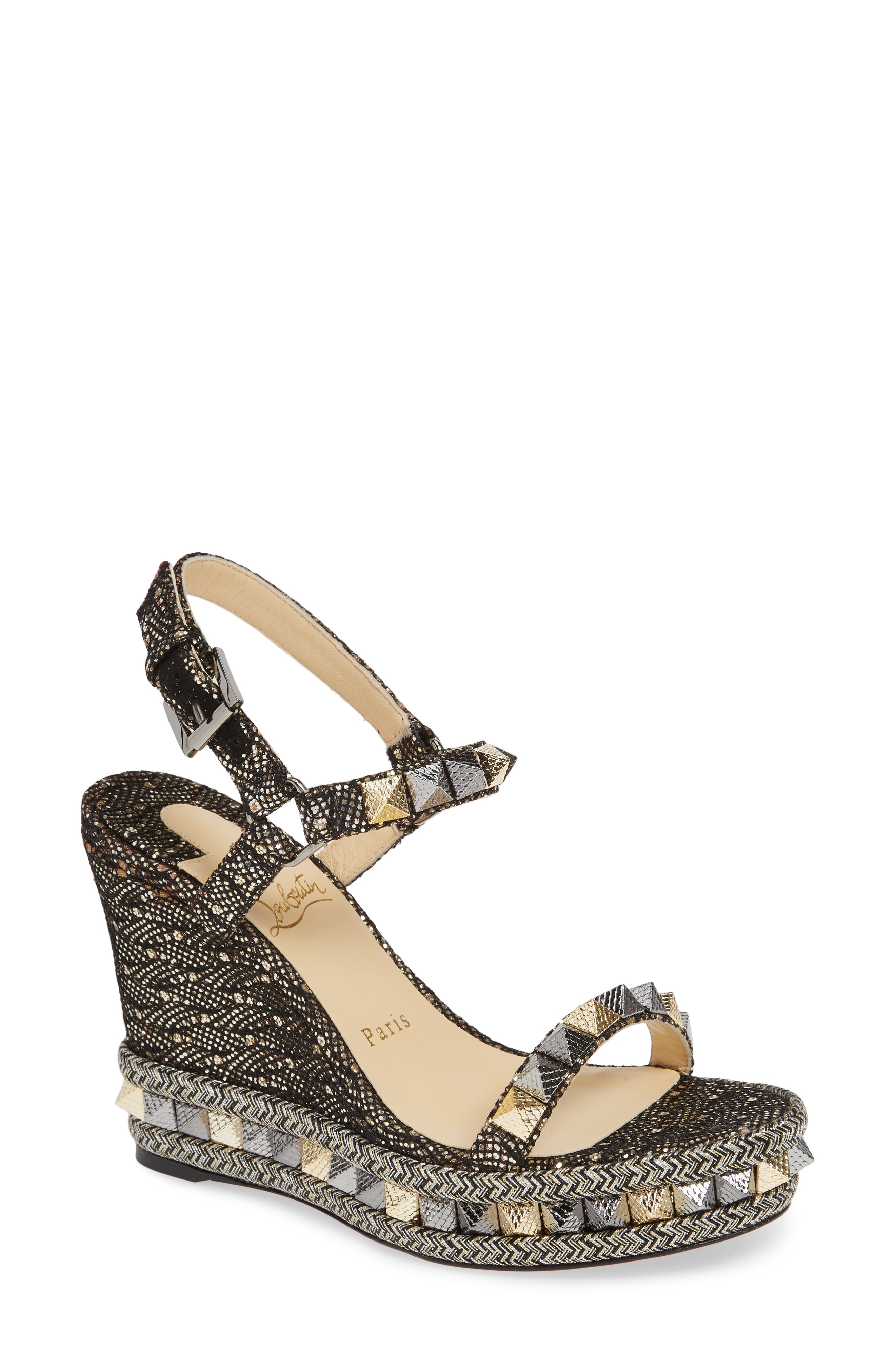 Christian Louboutin Pyraclou Wedge Sandal (Women)