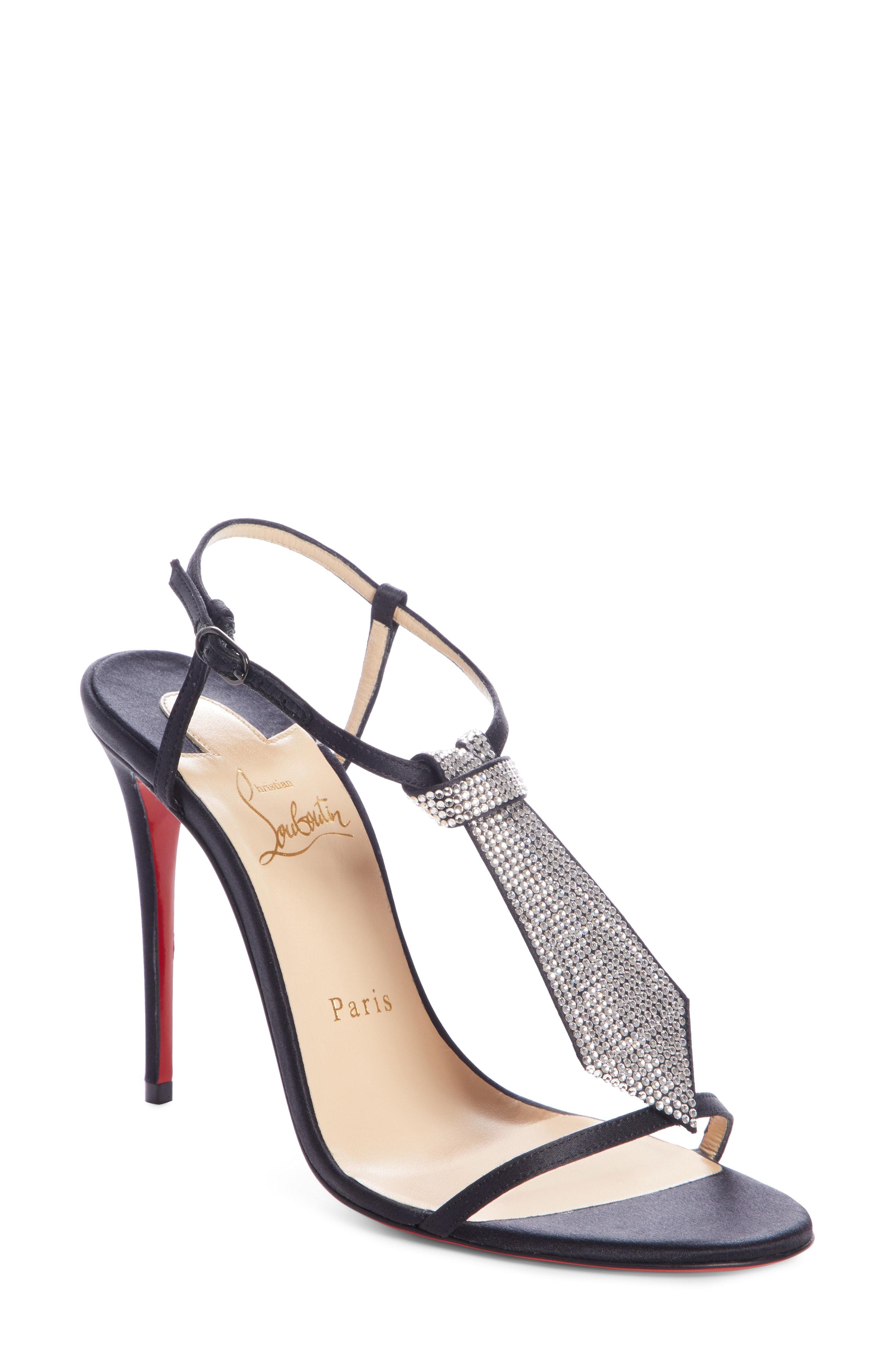 Christian Louboutin T Cab Tie Embellished Sandal (Women)