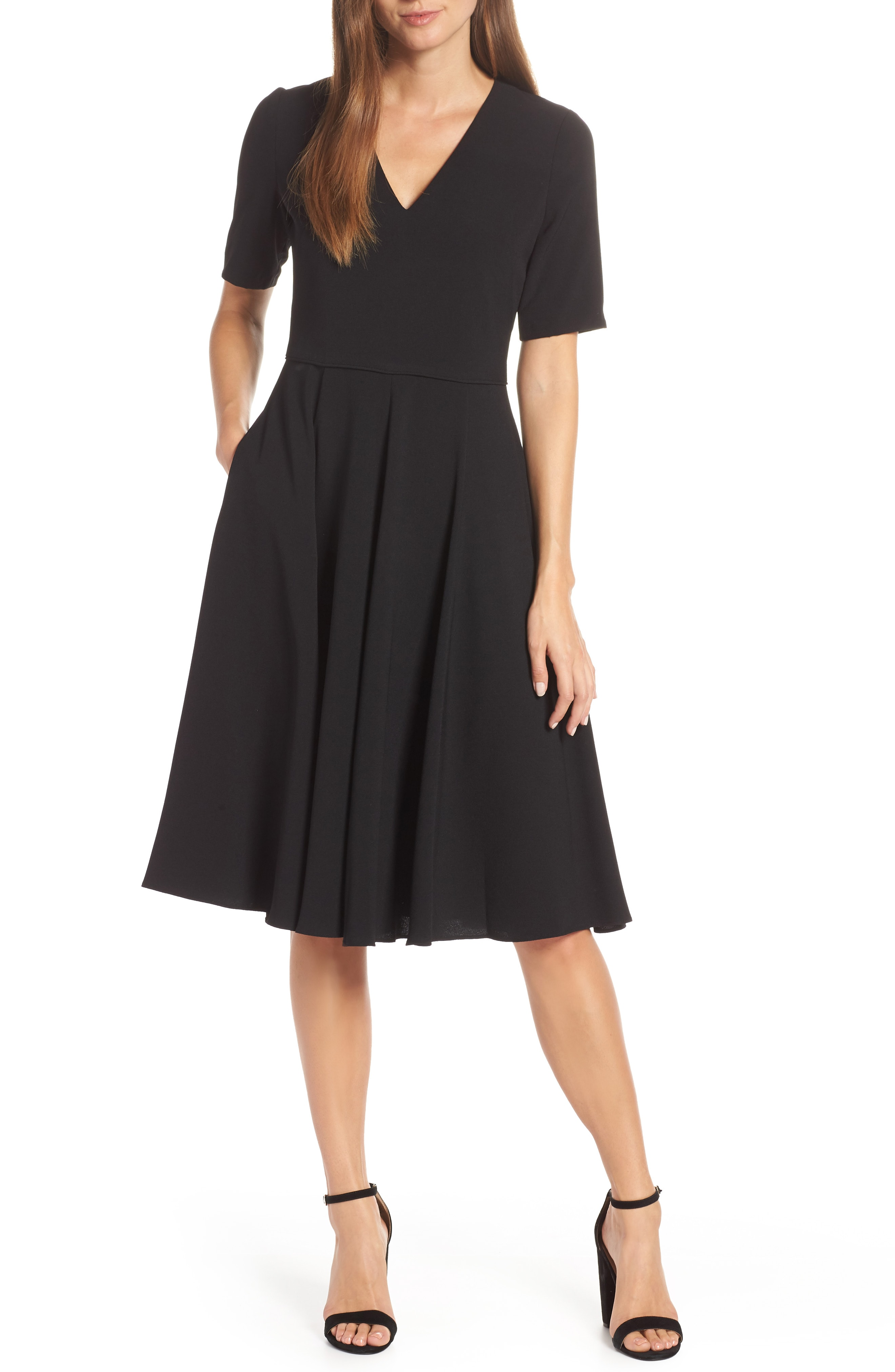 Gal Meets Glam Collection City Crepe Fit & Flare Dress (Nordstrom Exclusive)