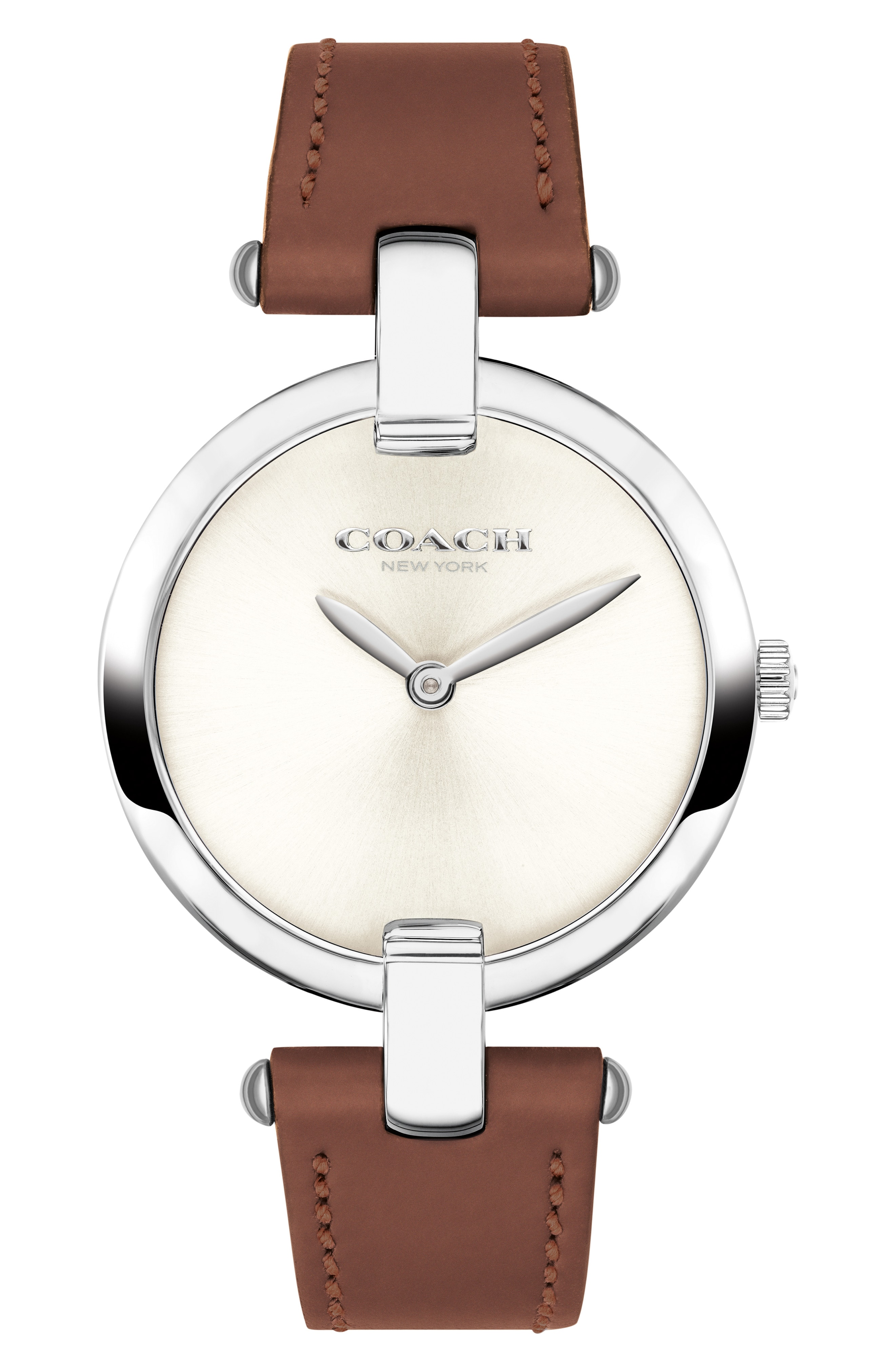 COACH Chrystie Leather Strap Watch, 32mm