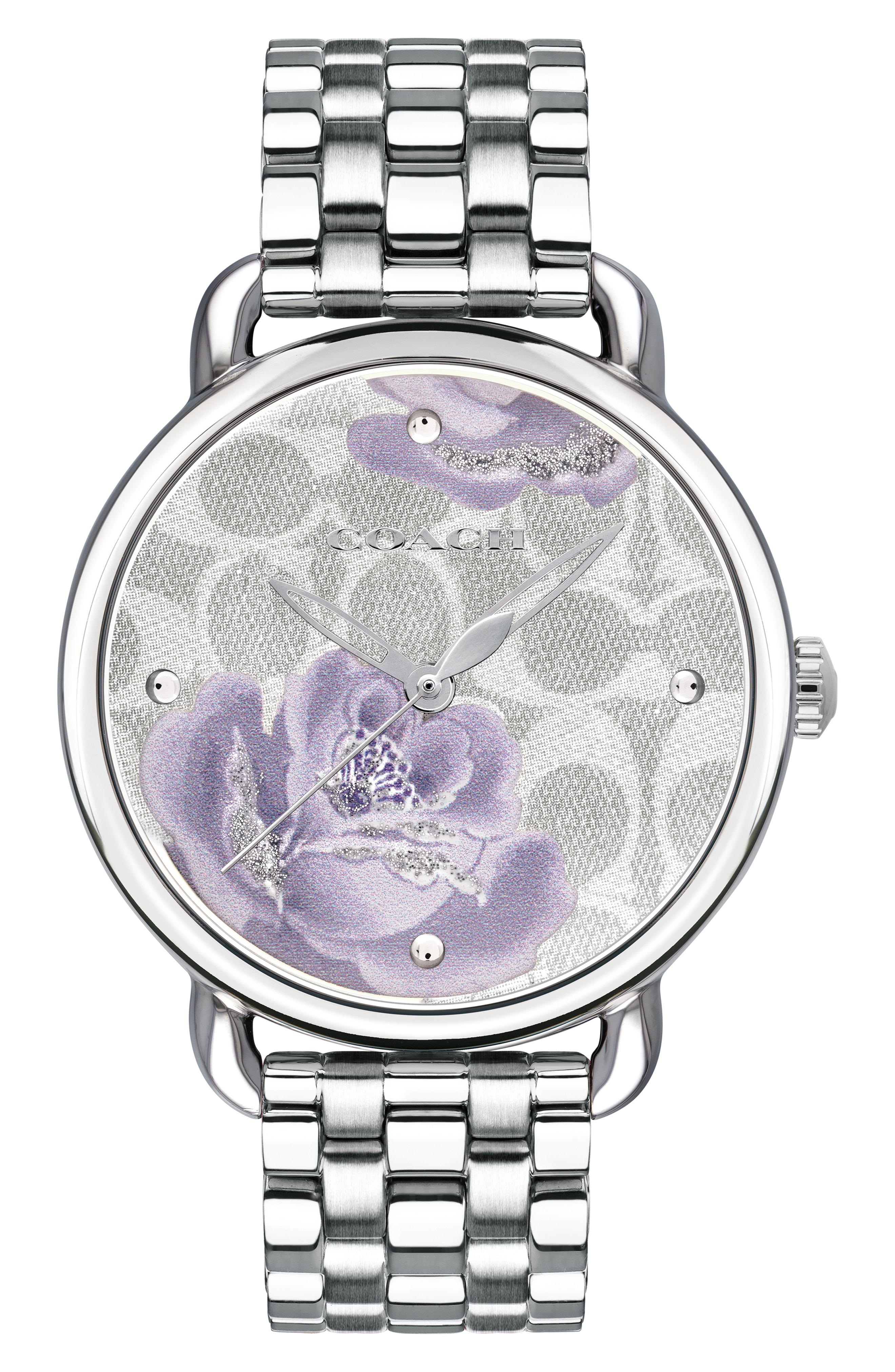 Coach Delancey Floral Bracelet Watch, 36mm