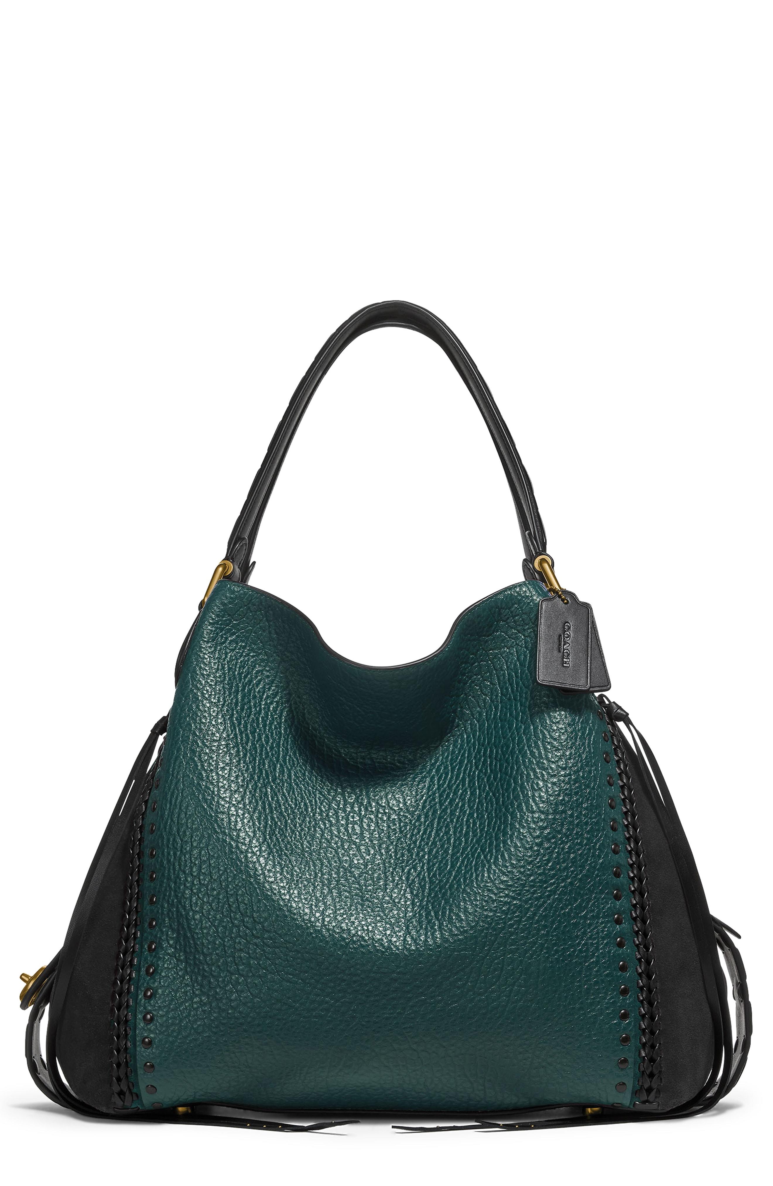 COACH Edie 42 Colorblock Leather Shoulder Bag