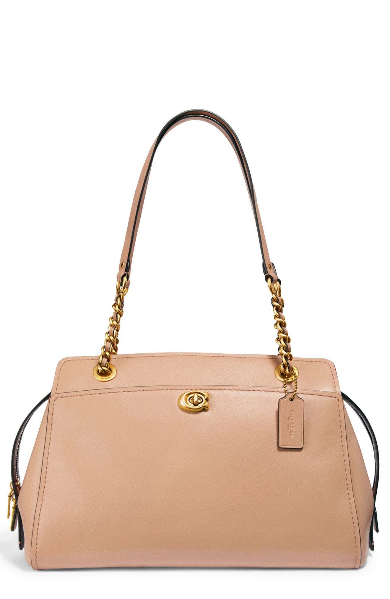 COACH Parker Leather Shoulder Bag