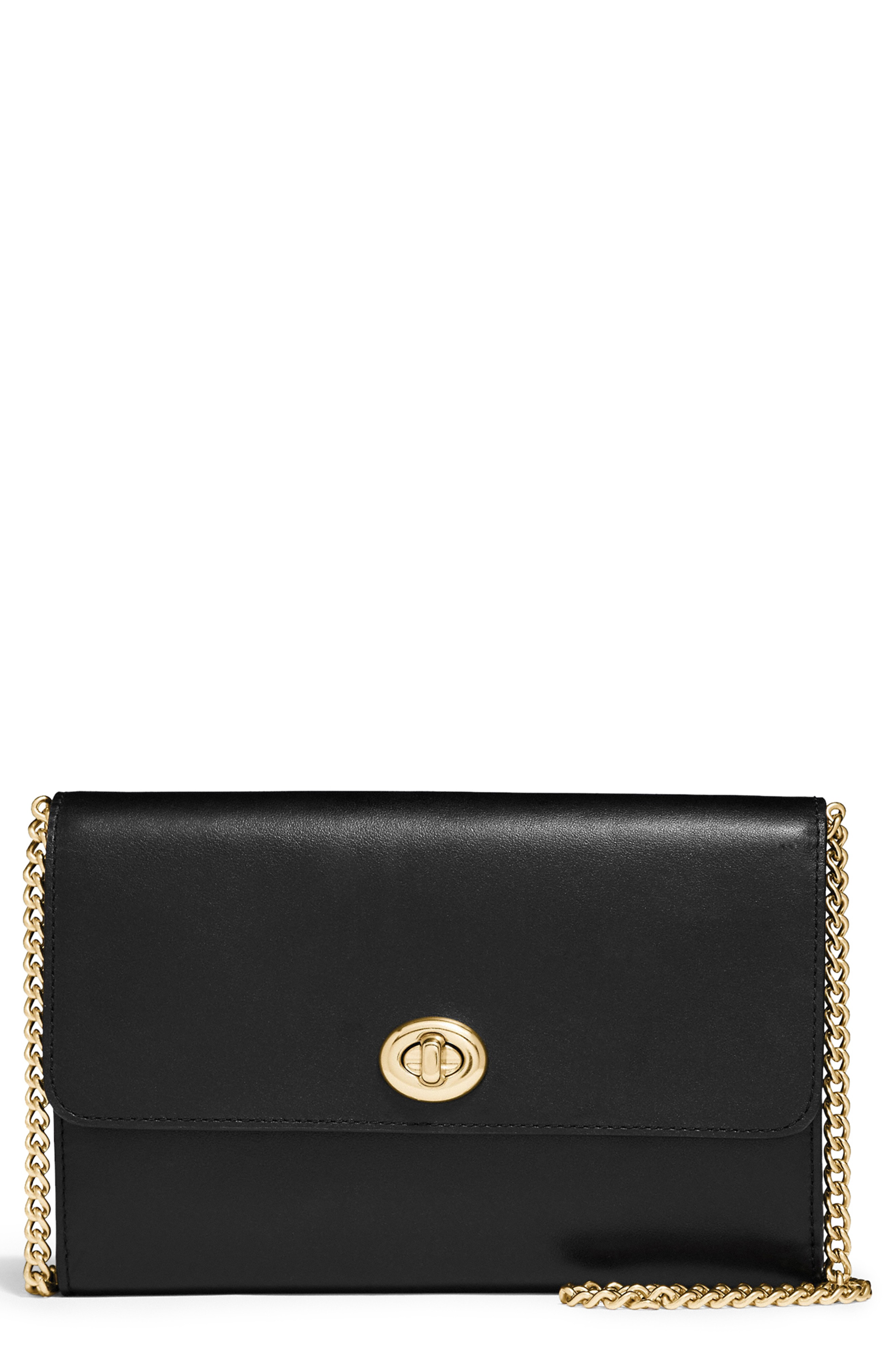 COACH Smooth Leather Flap Wallet