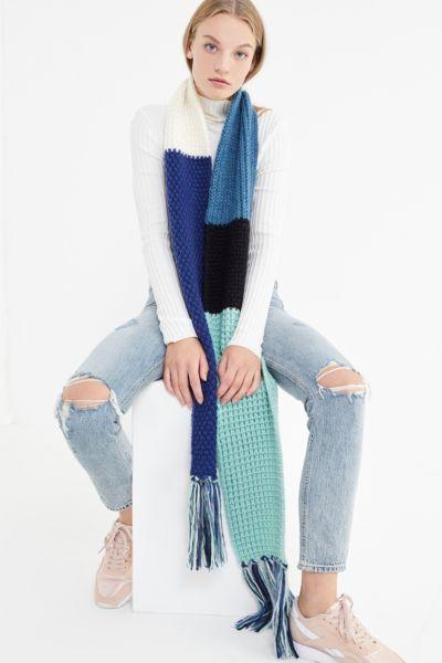 Colorblock Knit Scarf