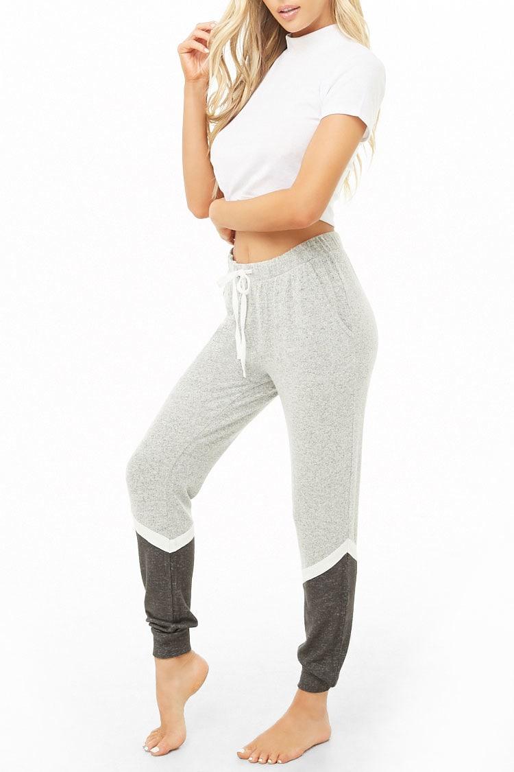 F21 Colorblock Marled Pants