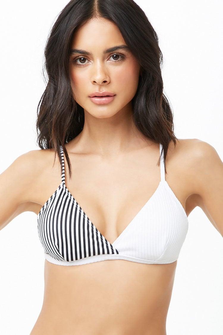 F21 Combo Striped Bikini Top