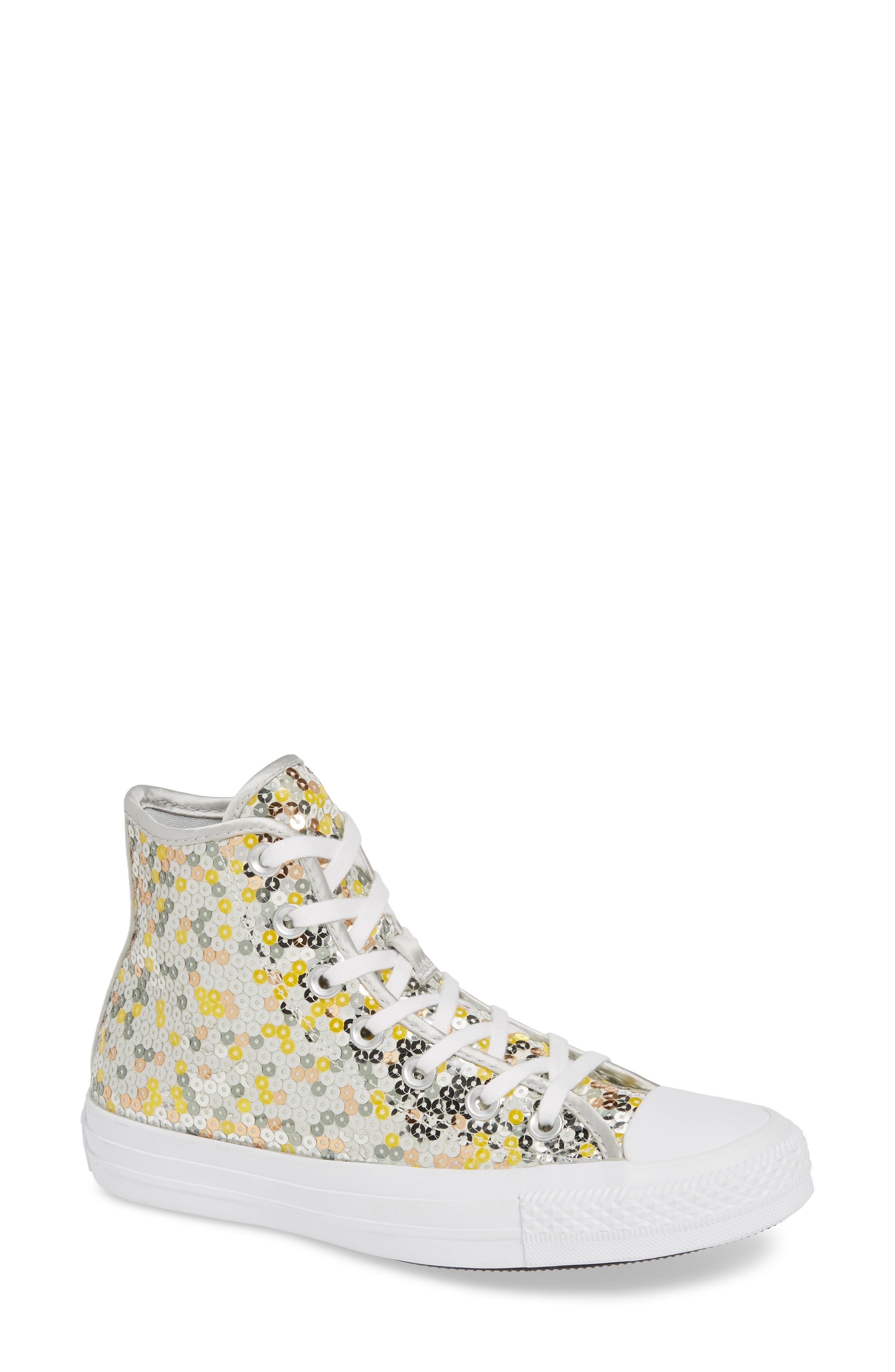 Converse Chuck Taylor All Star Sequin High Top Sneaker (Women)