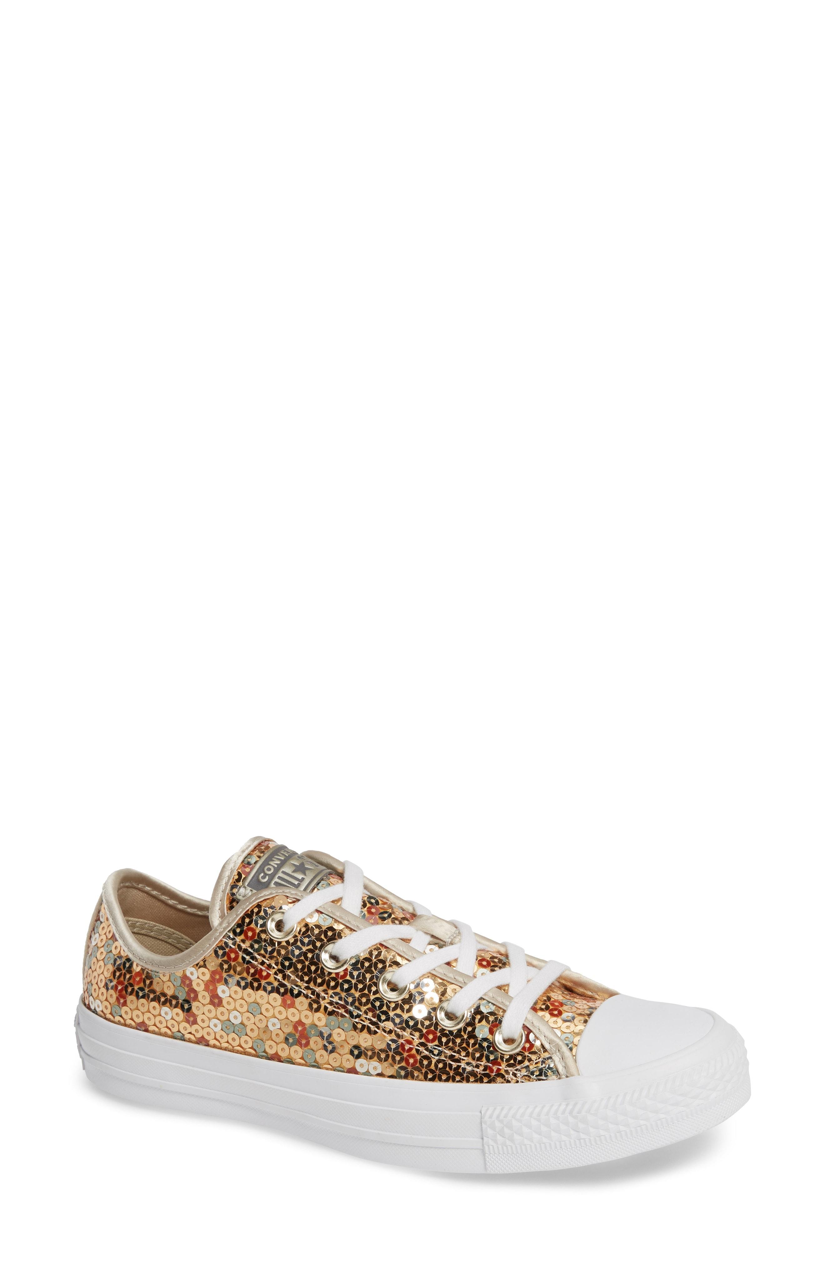 Converse Chuck Taylor All Star Sequin Low Top Sneaker (Women)