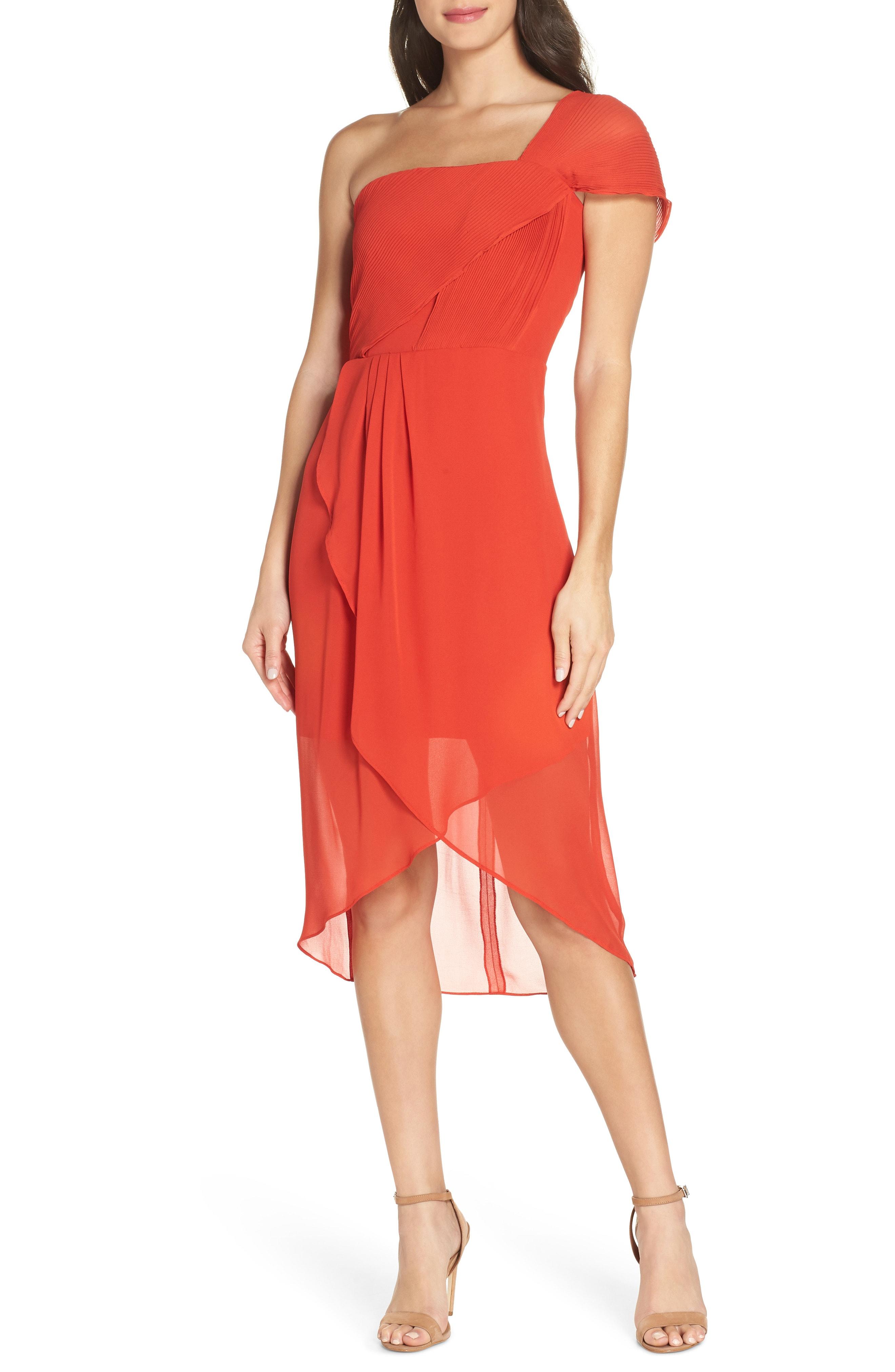 Cooper St Saffron One-Shoulder High/Low Dress