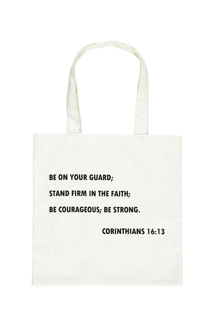F21 Corinthians Tote Bag