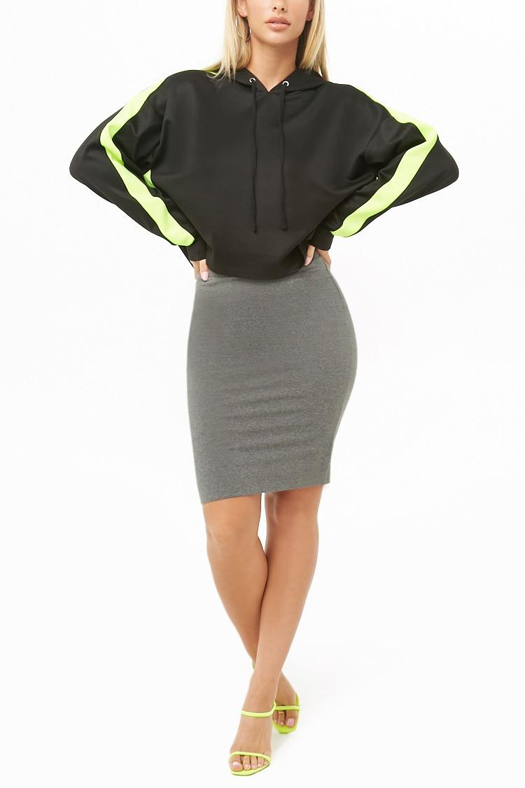 F21 Cotton-Blend Pencil Skirt