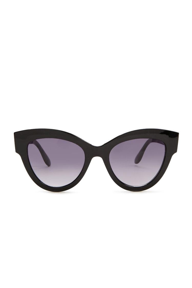 F21 Curved Brow-Bar Cat-Eye Sunglasses