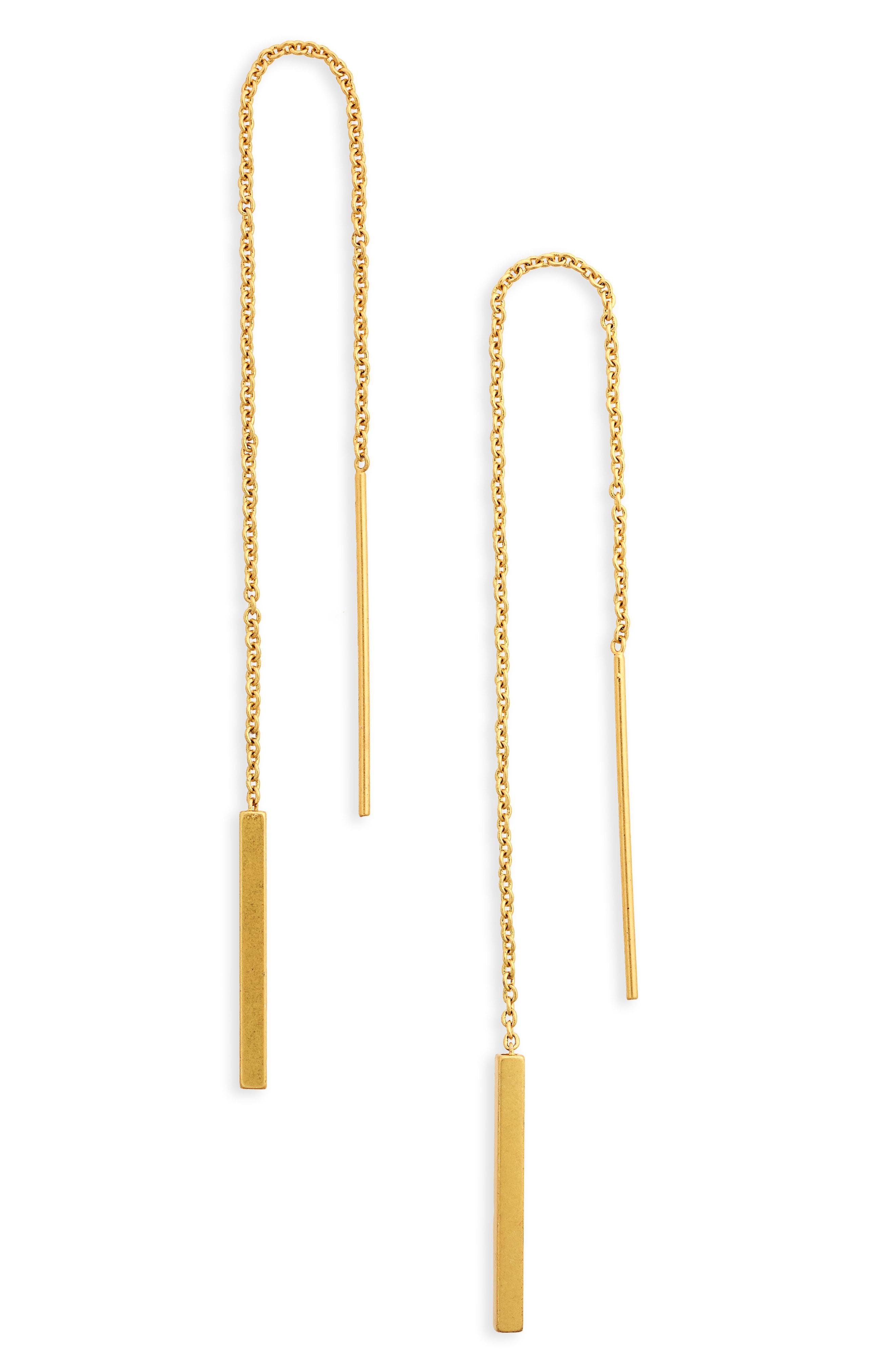 Madewell Delicate Threader Earrings