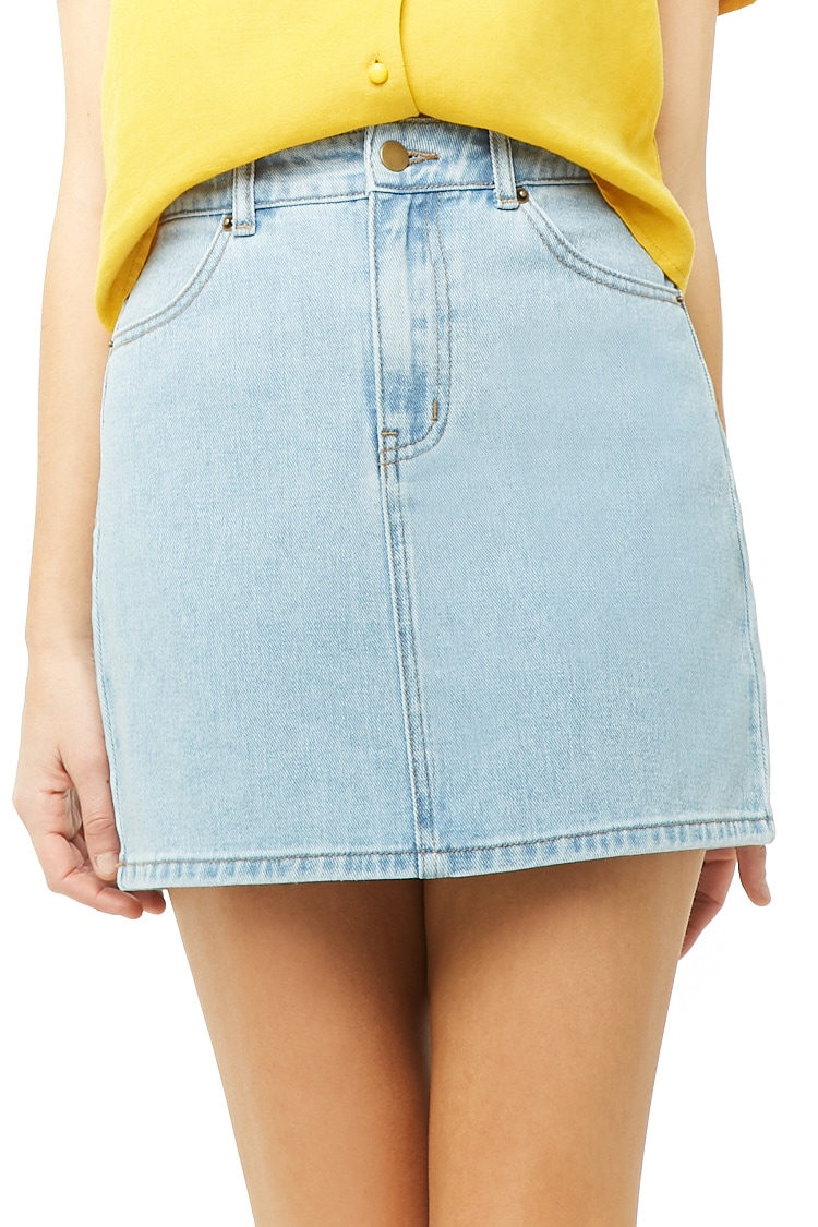 F21 Denim Mini Skirt