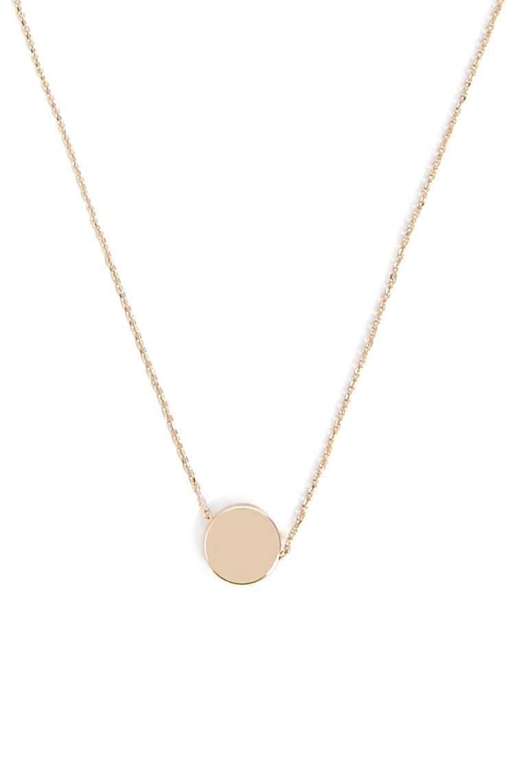 F21 Disc Charm Necklace