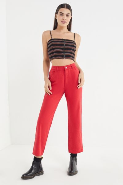 DL1961 Jerry High-Rise Vintage Straight Leg Jean - Outlaw Red