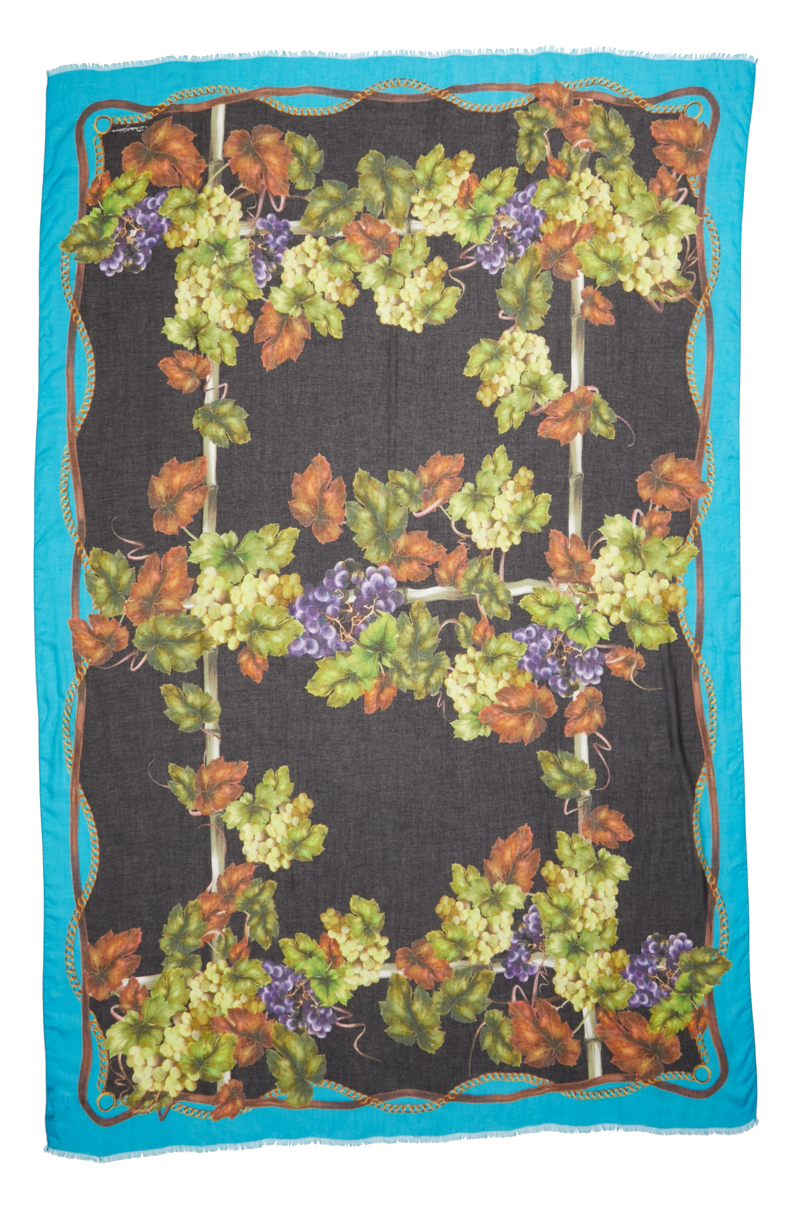 Dolce&Gabbana Grape Print Modal & Cashmere Scarf