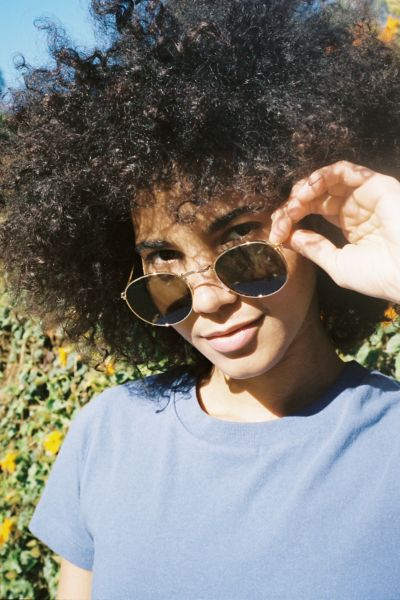 Dyllon Metal Round Sunglasses
