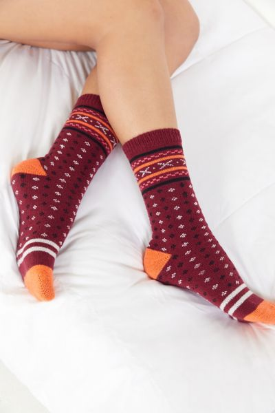 Fair Isle Cozy Sock