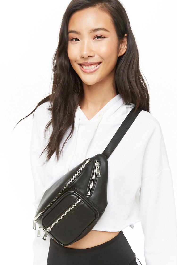 F21 Faux Leather Belt Bag