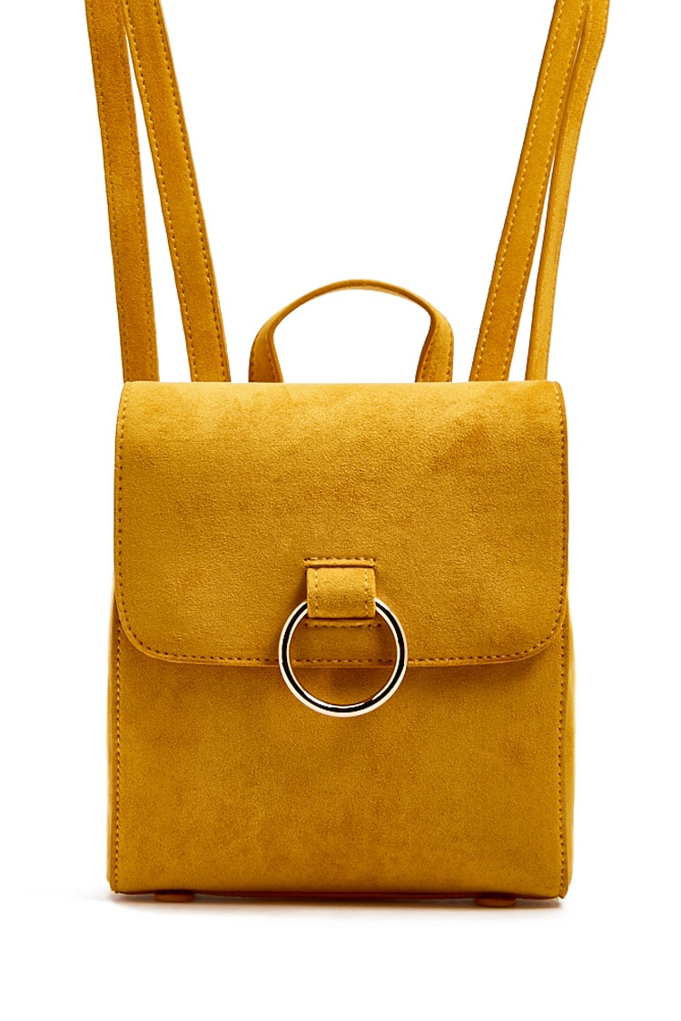 F21 Faux Suede Backpack