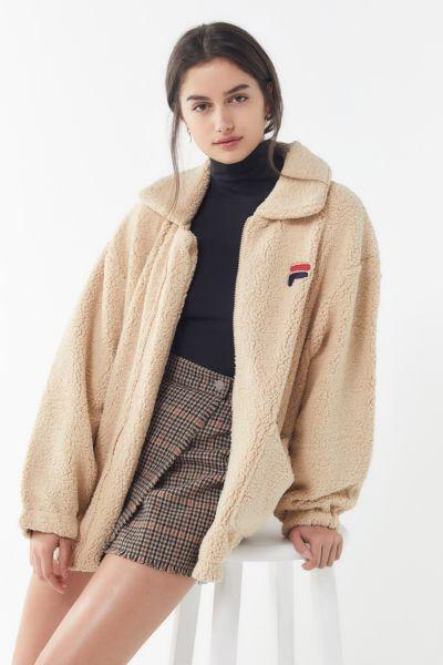 FILA Diana Zip-Front Teddy Jacket