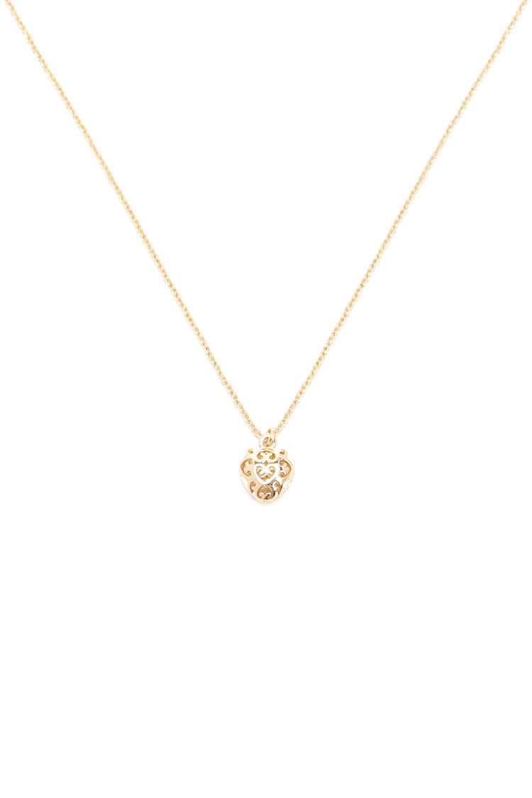 F21 Filigree Heart Charm Necklace