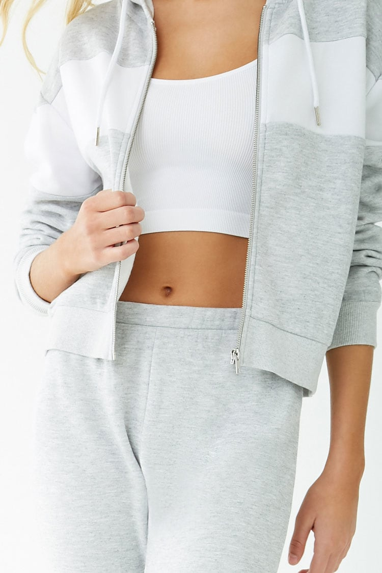 F21 Fleece Colorblock Pajama Hoodie