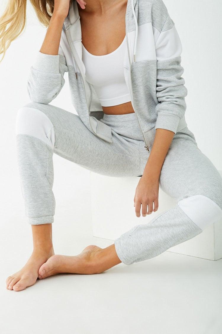 F21 Fleece Colorblock Pajama Pants