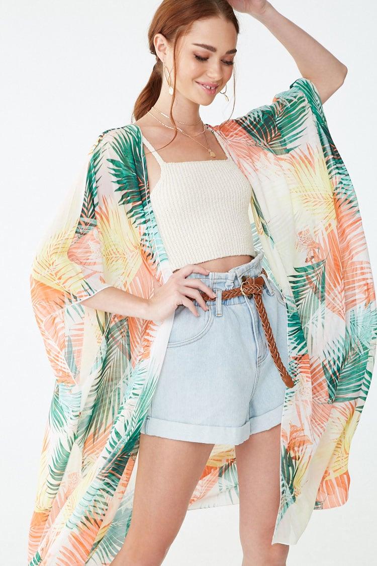 F21 Floral Print Duster Kimono