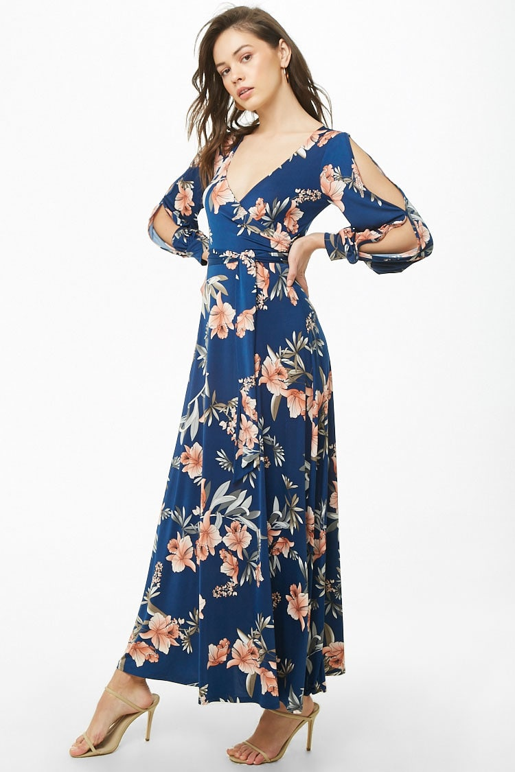 F21 Floral Print Maxi Dress