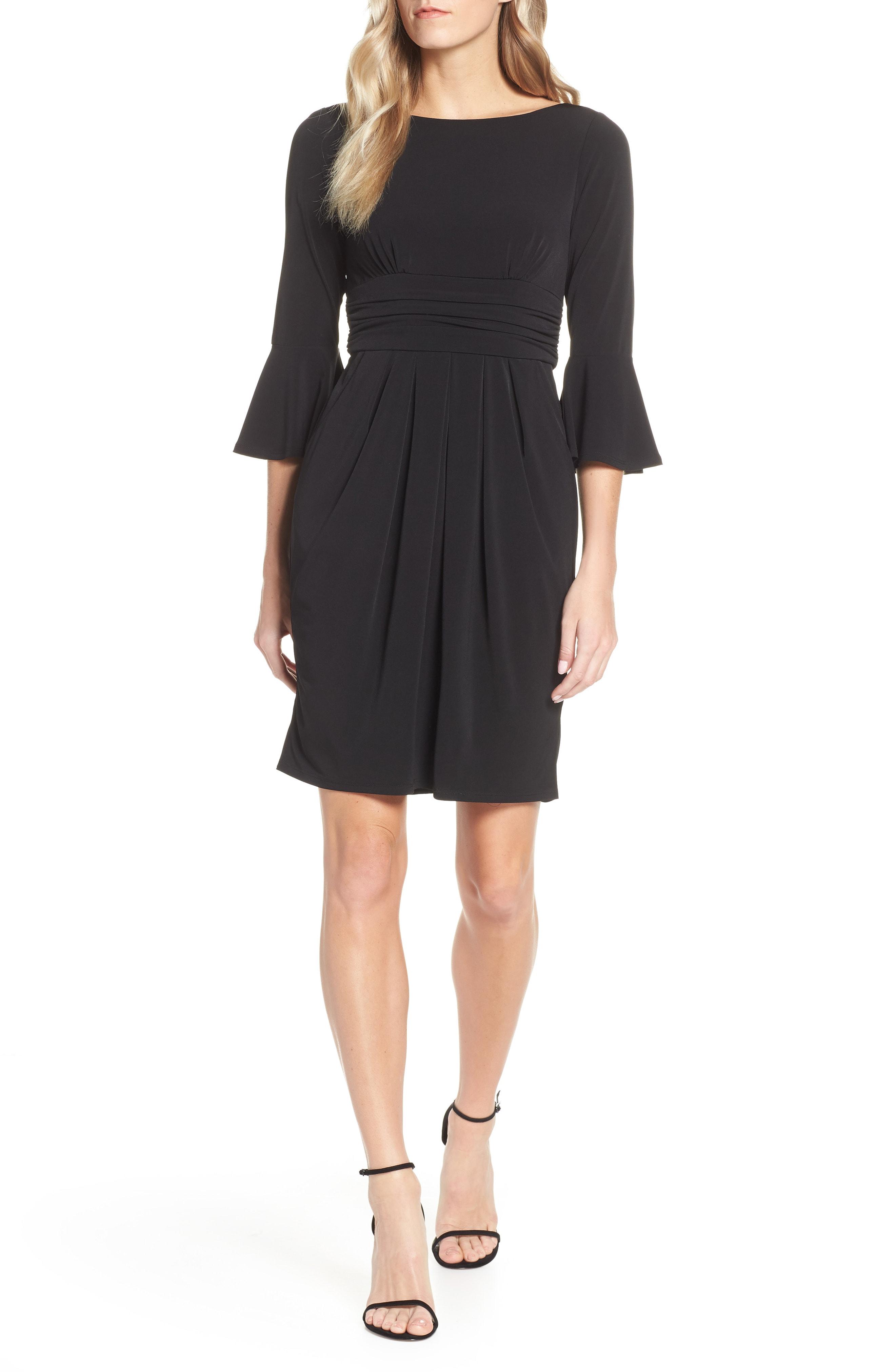 Eliza J Flounce Sleeve Sheath Dress