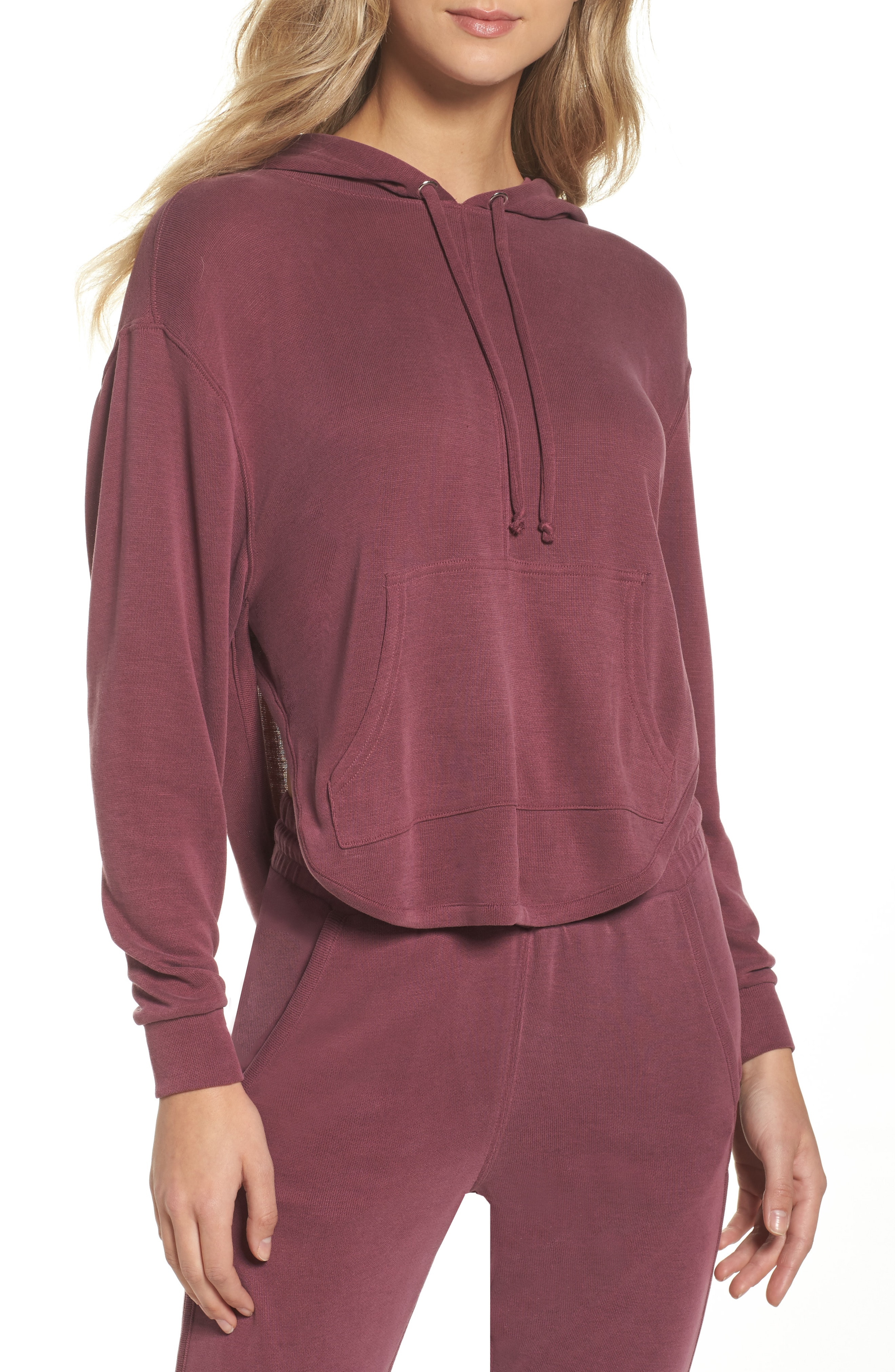 Free People Movement Back Into It Cutout Hoodie