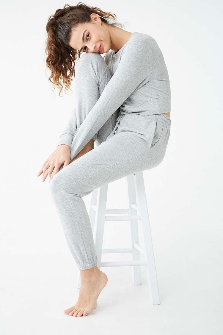 F21 French Terry Pajama Pants
