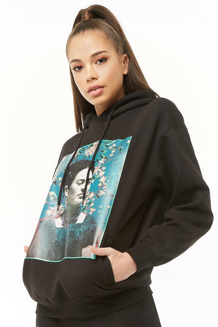 F21 Frida Kahlo Graphic Hoodie